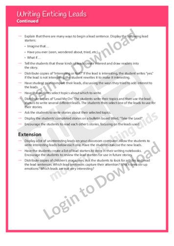 108723E02_WritingTraitsOrganisationWritingEnticingLeads02