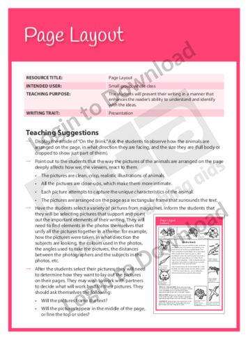 Presentation: Page Layout