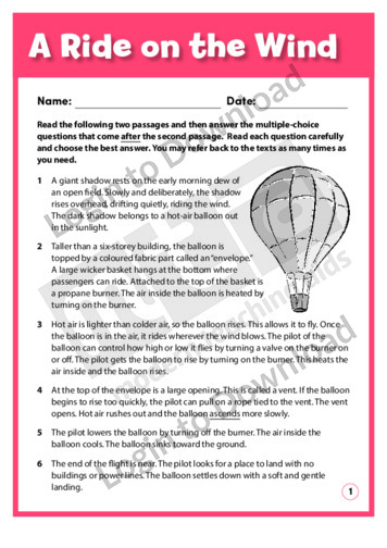A Ride on the Wind / Diary of a Balloon Pilot