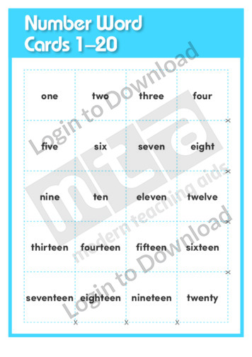 Number Word Cards 1-20