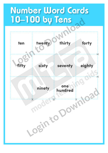 Number Word Cards 10-100 by Tens
