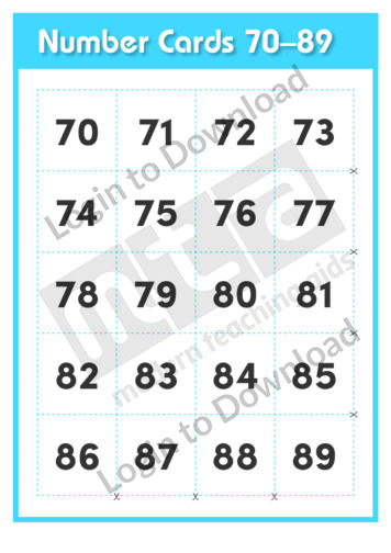 Number Cards 70-89
