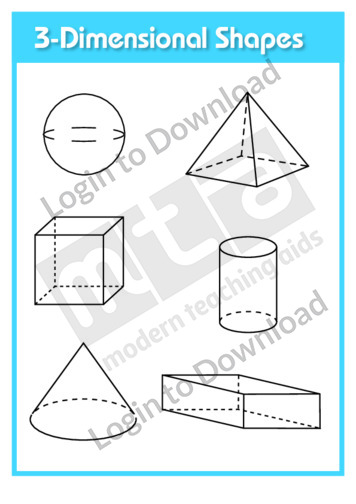 3-Dimensional Shapes (template)