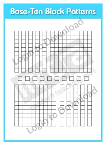 Base-Ten Block Patterns 1