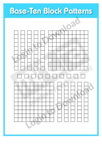 Base-Ten Block Patterns 2