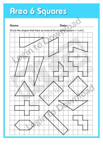 Area 6 Squares
