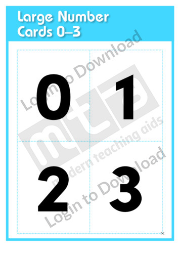 Large Number Cards 0-3