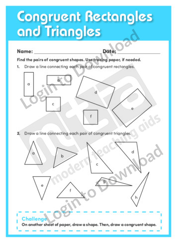 Congruent Rectangles and Triangles