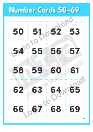 Number Cards 50-69