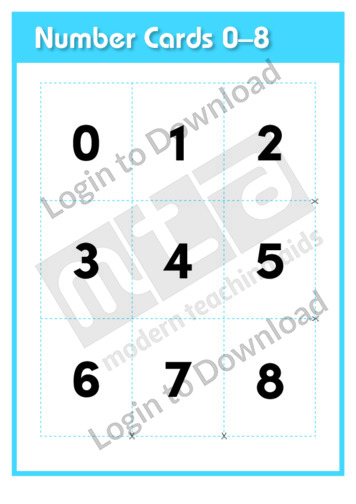 Number Cards 0-8