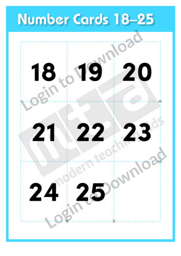 Number Cards 18-25
