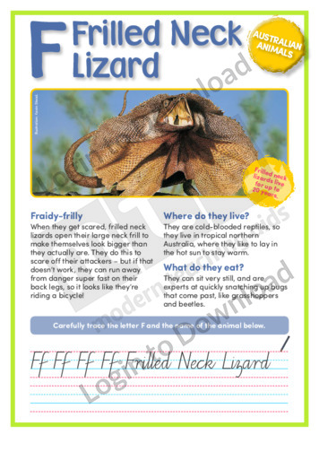 F: Frilled Neck Lizard
