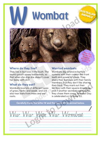 W: Wombat