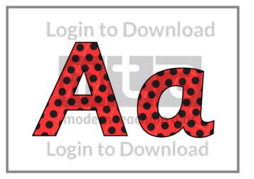 Ladybird Spots (letters)