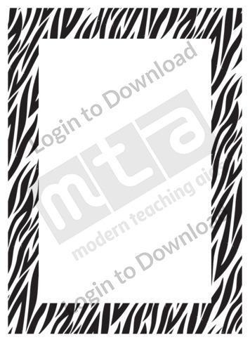 Zebra Print (border)
