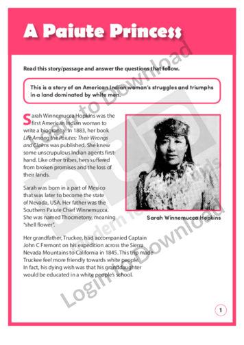 A Paiute Princess