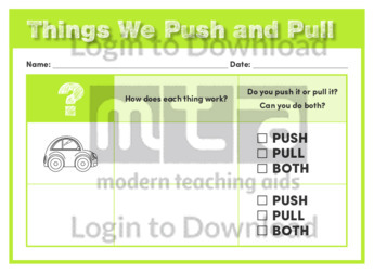 Things We Push and Pull