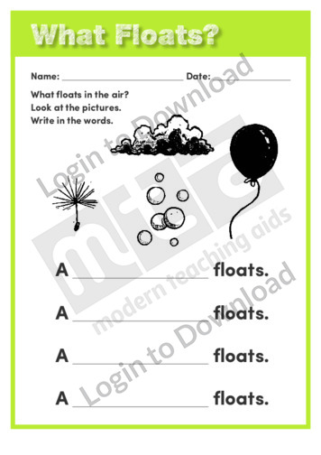 What Floats?