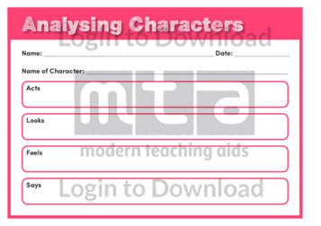 Analysing Characters