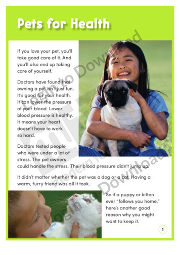 Pets for Health