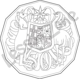 Australia, 50c coin B&W