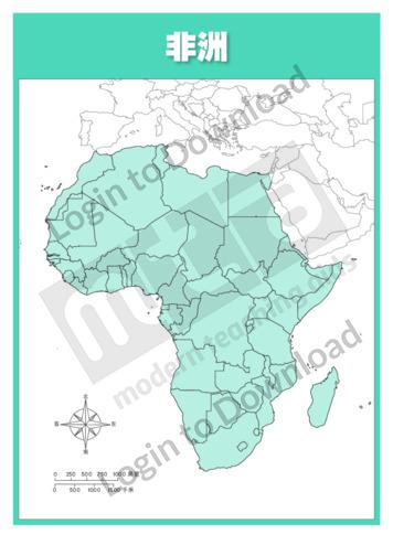111044C02_地图非洲行政区划图01