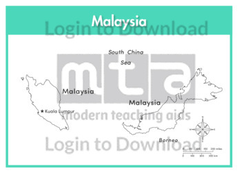 Malaysia (labelled outline)