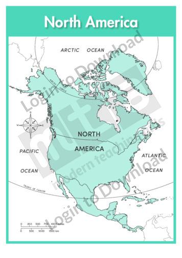 Lesson Zone AU North America Continent labelled
