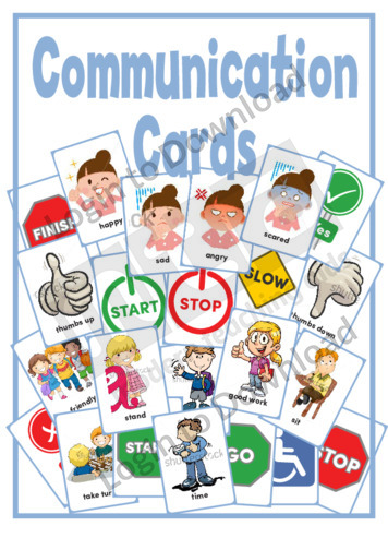 Communication Cards
