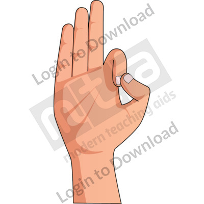 American Sign Language: F