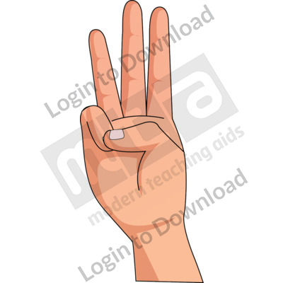 American Sign Language: W