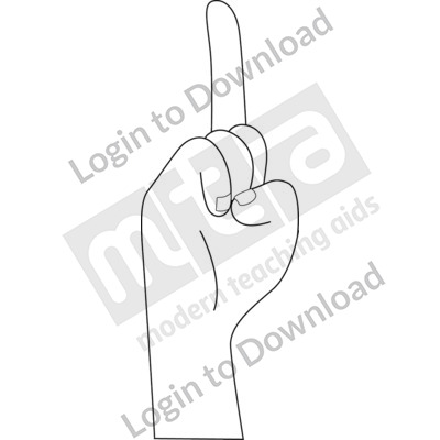 American Sign Language: D B&W