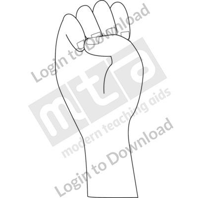 American Sign Language: E B&W