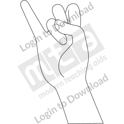 American Sign Language: I B&W
