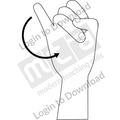 American Sign Language: J B&W