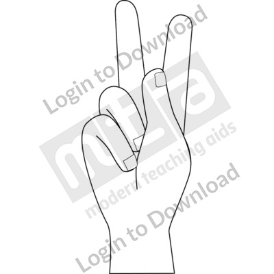 American Sign Language: K B&W