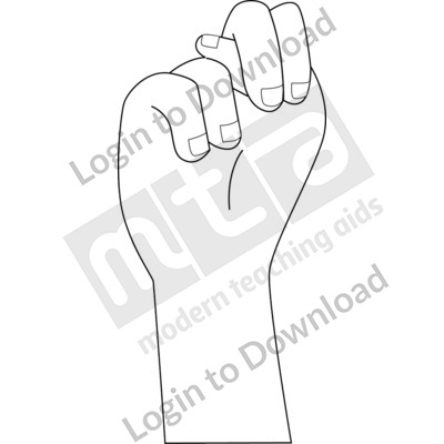 American Sign Language: N B&W