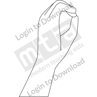 American Sign Language: O B&W