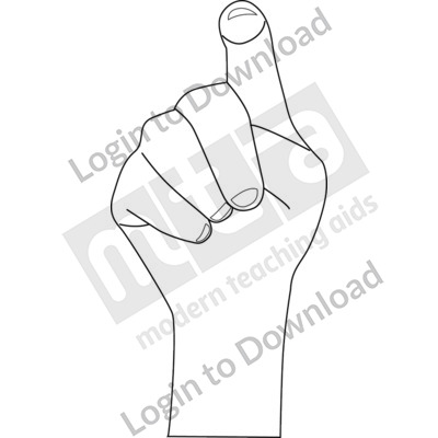 American Sign Language: X B&W
