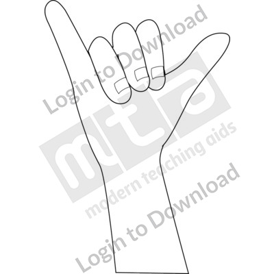 American Sign Language: Y B&W
