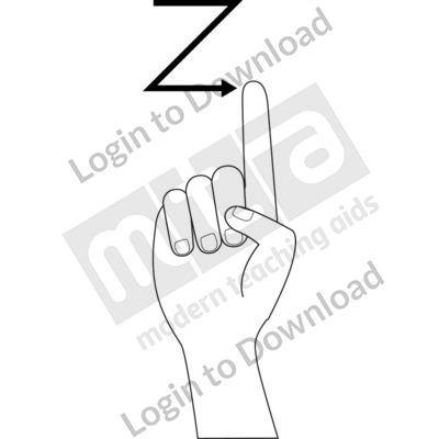 American Sign Language: Z B&W