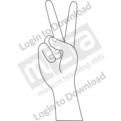 American Sign Language: 2 B&W