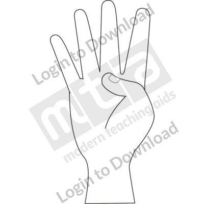 American Sign Language: 4 B&W