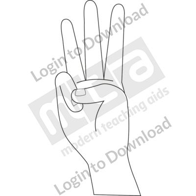 American Sign Language: 6 B&W