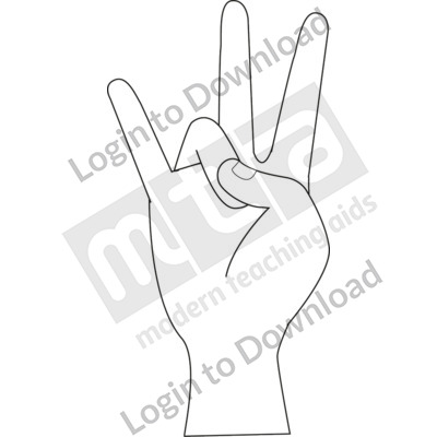 American Sign Language: 7 B&W