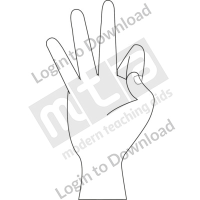 American Sign Language: 9 B&W
