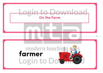 On the Farm (Landscape 2/page)