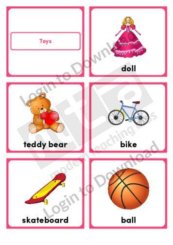 Toys (Portrait 6/page)