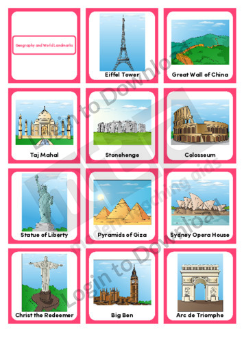 Geography and World Landmarks (Portrait 12/page)