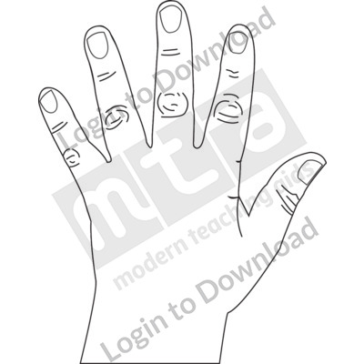 Left hand B&W